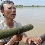 Dầm mình dưới nước cả ngày để 'săn' cá bống ở đáy sông Trà Khúc