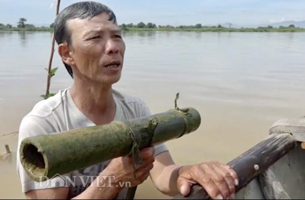đánh bắt cá bống sông Trà