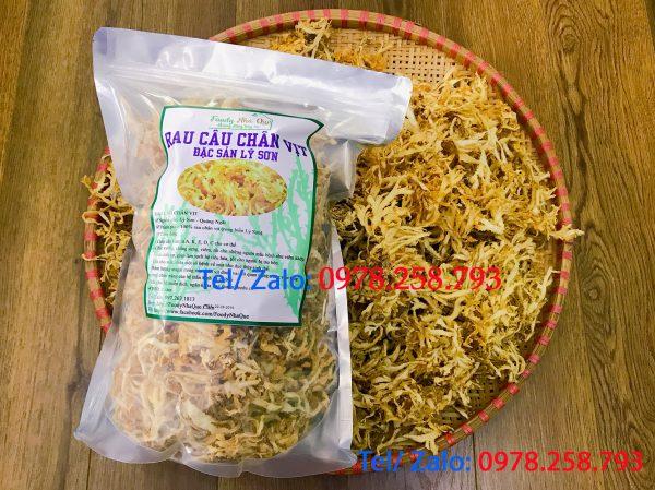 rau chân vịt khô Lý Sơn